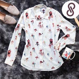 H&M Orchid HD Print Button Down Shirt